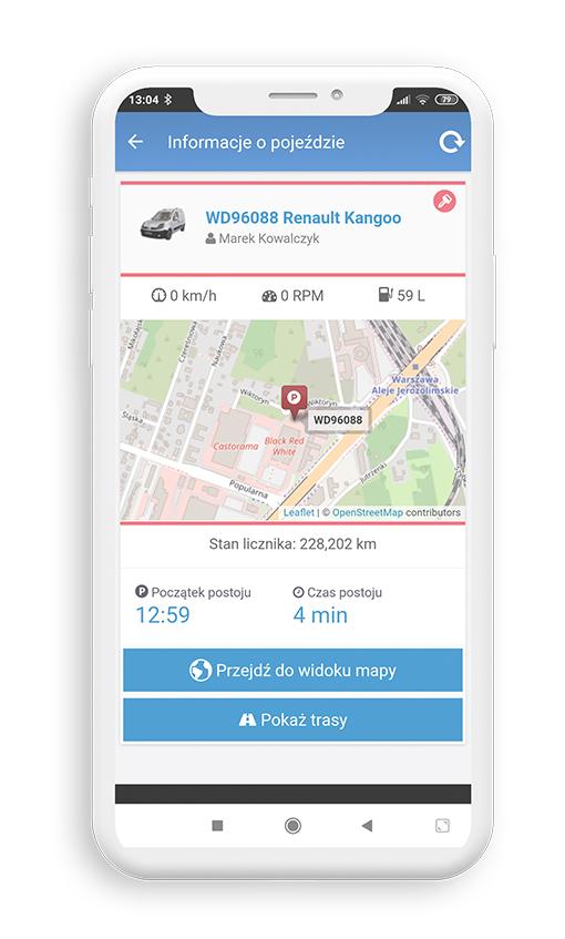 aplikacja mobilna dla floty